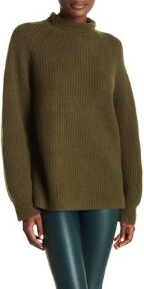 Theory Fine Heaven Ribbed Wool & Cashmere Blend Sweater