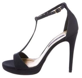 Ralph Lauren Woven T-Strap Sandals