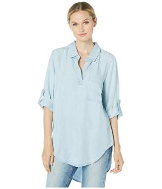Mod-o-doc Chambray Roll Tab Patch Pocket Tunic