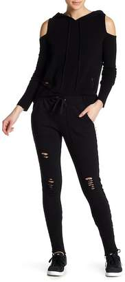 PAM AND GELA Double Stripe French Terry Stirrup Pants