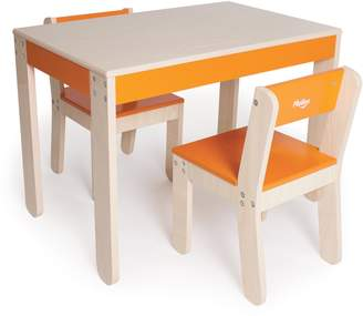 P'kolino PKFFTCORG Table and Chairs (Orange)