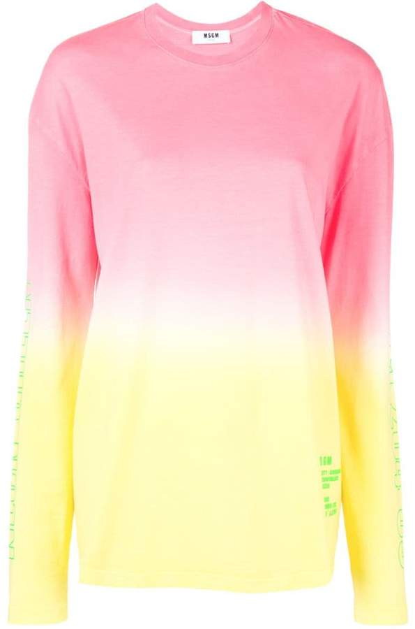 longline ombré sweatshirt