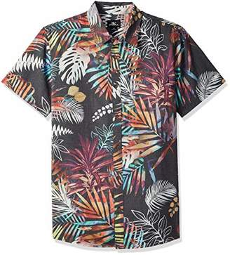 O'Neill Men's Modern Fit Short Sleeve Woven Party Shirt