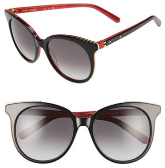 Women's Bobbi Brown 'The Lucy' 54Mm Sunglasses - Black/ Red $165 thestylecure.com