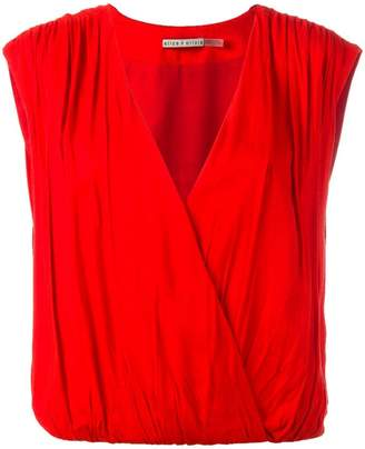 Alice + Olivia Alice+Olivia sleeveless wrap top