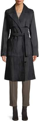 Yves Salomon Women's Suede Trench Coat
