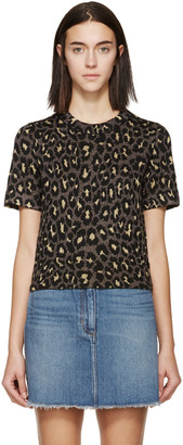 Marc by Marc Jacobs Gold & Brown Knit Leopard T-Shirt $260 thestylecure.com