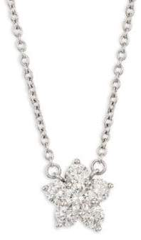 Kwiat Cluster 18K White Gold& Diamond Pendant Necklace