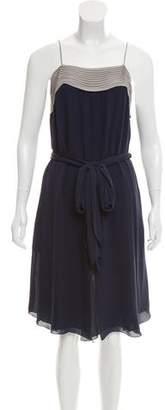 L'Agence Silk Midi Dress