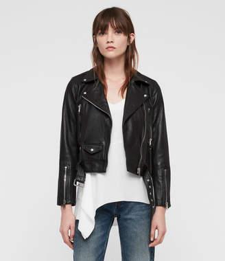 AllSaints Juno Leather Biker Jacket
