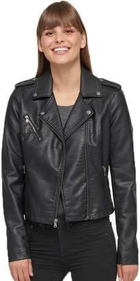 Levi's Levis Women's Faux-Leather Motorcycle Jacket