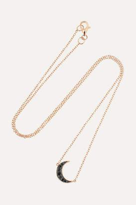 Andrea Fohrman Luna 18-karat Rose Gold Diamond Necklace - one size