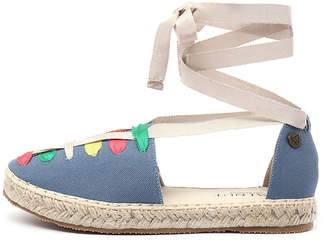 Walnut Melbourne Lacy espadrille Indigo multi Shoes Womens Shoes Casual Flat Shoes