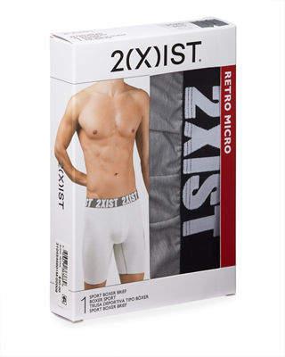 2xist Men's Retro Micro Sport No-Show Boxer Briefs