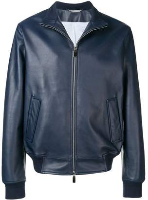Canali high-neck bomber jacket