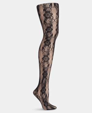 b5aff03b4 Hanes Plus Size Floral Lace Net Tights