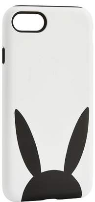 Pottery Barn Teen The Emily & Meritt Phone Case, IPhone 7, Black/White Bunny Ears