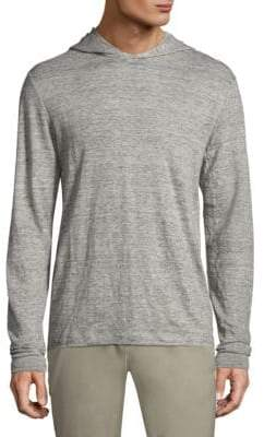 Theory Colton Zephyr Linen Hoodie