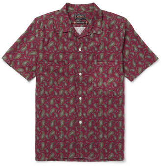 Beams Camp-Collar Paisley-Print Cotton Shirt