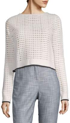 Narciso Rodriguez Women's Grid Knitted Top