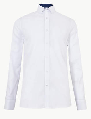M&S CollectionMarks and Spencer Cotton Blend Shirt