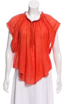 IRO Short Sleeve Linen Top