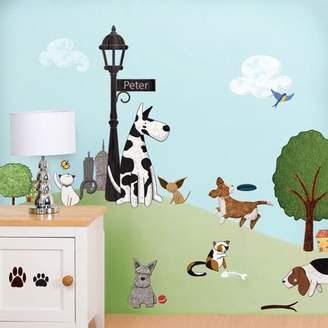 My Wonderful Walls Paws Park 36 Piece Wall Decal