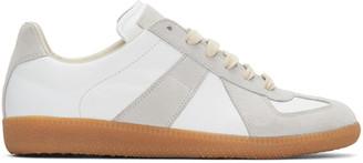 Maison Margiela White Replica Sneakers $460 thestylecure.com