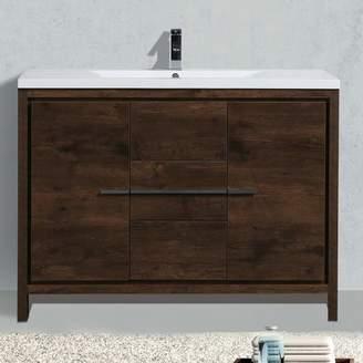 "Langley Street Almendarez Free Standing Modern 47"" Single Bathroom Vanity Set"