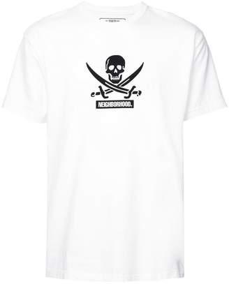 Neighborhood skull print T-shirt