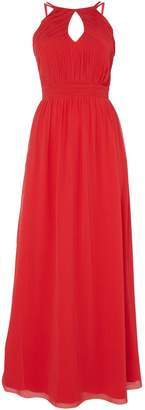 Little Mistress High neck strappy maxi dress