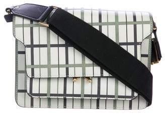 Marni Plaid Leather Trunk Bag