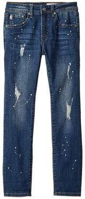 AG Adriano Goldschmied Kids The Jax Slim Straight Roll Cuff in Marble Boy's Jeans