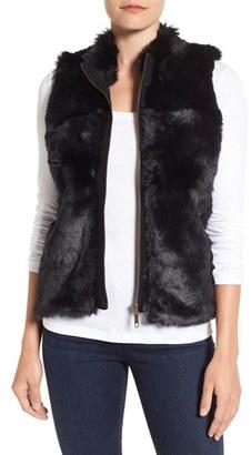 Women's Foxcroft Zip Front Faux Fur Vest $138 thestylecure.com