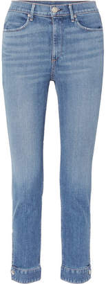 Rag & Bone Cuffed Cigarette High-rise Skinny Jeans - Mid denim