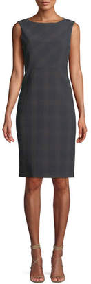 Elie Tahari Vanny Plaid Sheath Dress
