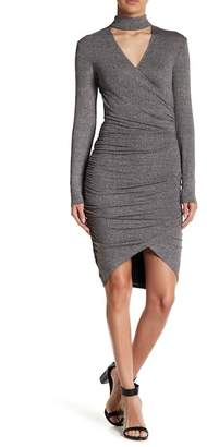Bardot Alex Surplice Mock Choker Dress
