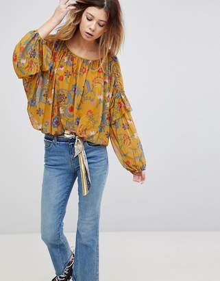 Free People Wild Flower Honey Blouse