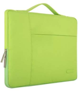 Mosiso Polyester Fabric Multifunctional Sleeve Briefcase Handbag Case Cover for 13-13.3 Inch Laptop, Notebook, MacBook Air/Pro,Greenery