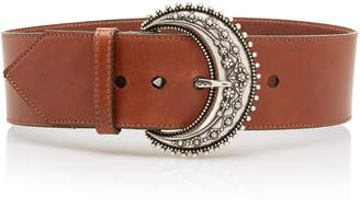 Etro Wide Leather Belt Size: 70 cm