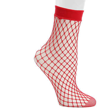 Steve Madden Fishnet Ankle Socks - Women's