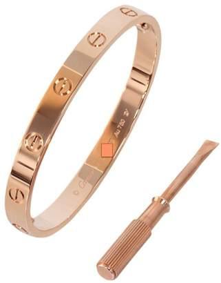Cartier Love Bracelet Rose Gold Size 18 B6035617