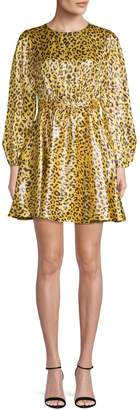 Diane von Furstenberg Draped Fit Flare Mini Dress