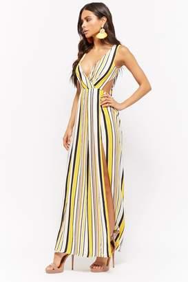 Forever 21 Striped M-Slit Maxi Dress