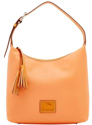 Dooney & Bourke Patterson Leather Paige Sac Shoulder Bag - APRICOT - STYLE