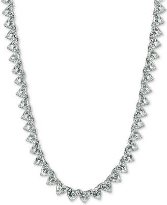 Giani Bernini Cubic Zirconia Heart Collar Necklace in Sterling Silver, Created for Macy's
