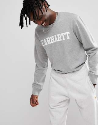 Carhartt WIP College Sweatshirt In Gray