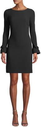 Karl Lagerfeld Paris Bow-Cuff Crepe Sheath Dress