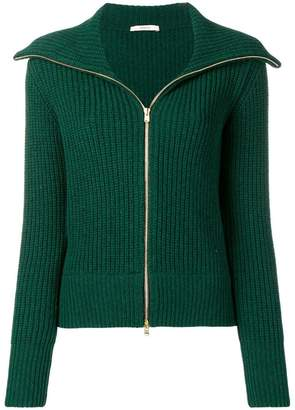 Odeeh zipped knitted cardigan