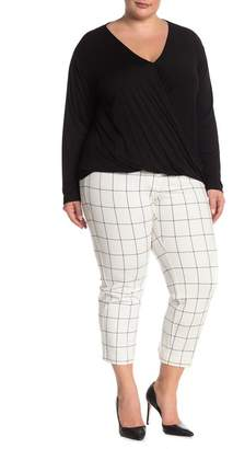 9b9203e82f5 Amanda   Chelsea Windowpane Print Ponte Knit Pants (Plus Size)